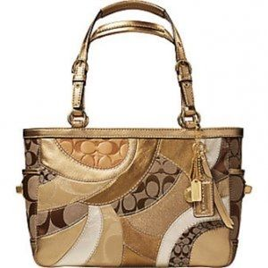COACH Authentic Gold Mosaic Gallery Patchwork Tote